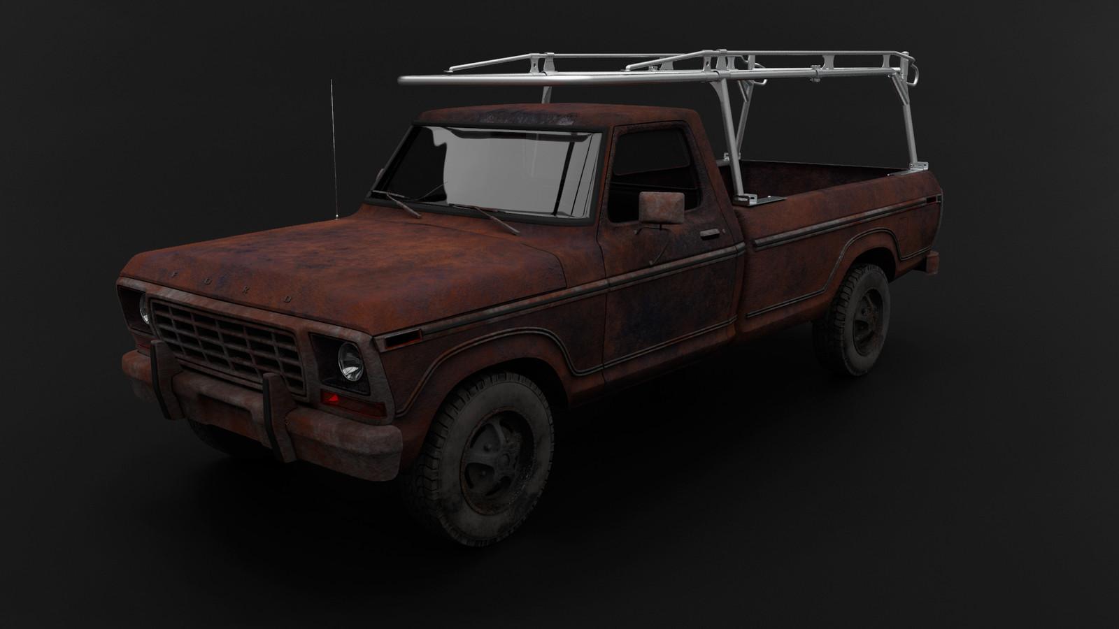 Kargo Master 3D Vehicle And Ladder Rack Renders