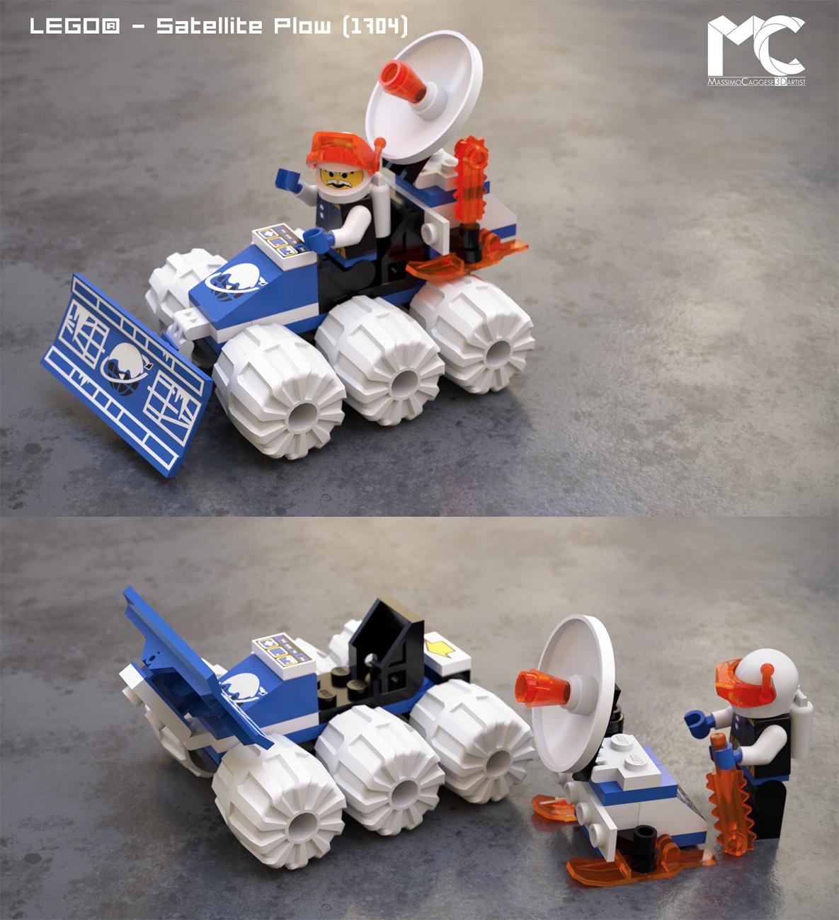 LEGO - Satellite Plow (Octane Render).