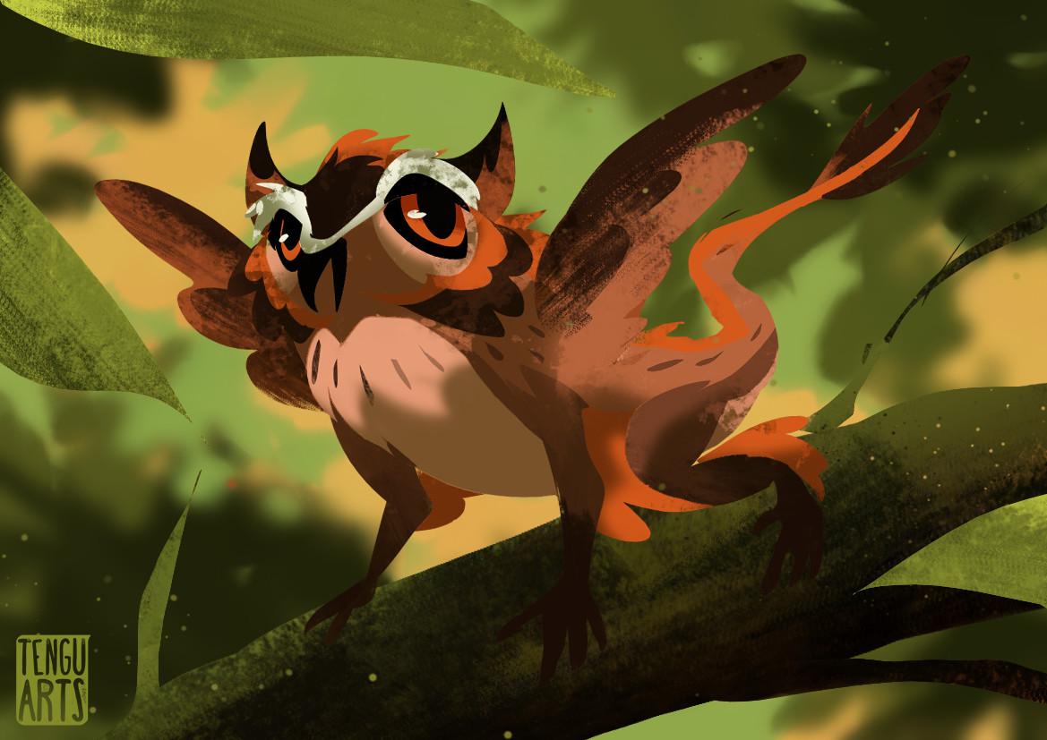 Michelle henderson owl lizard 2