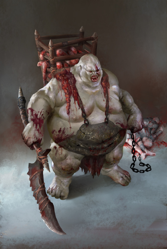 Orc Butcher: this unit collets meat in the battle as resources.