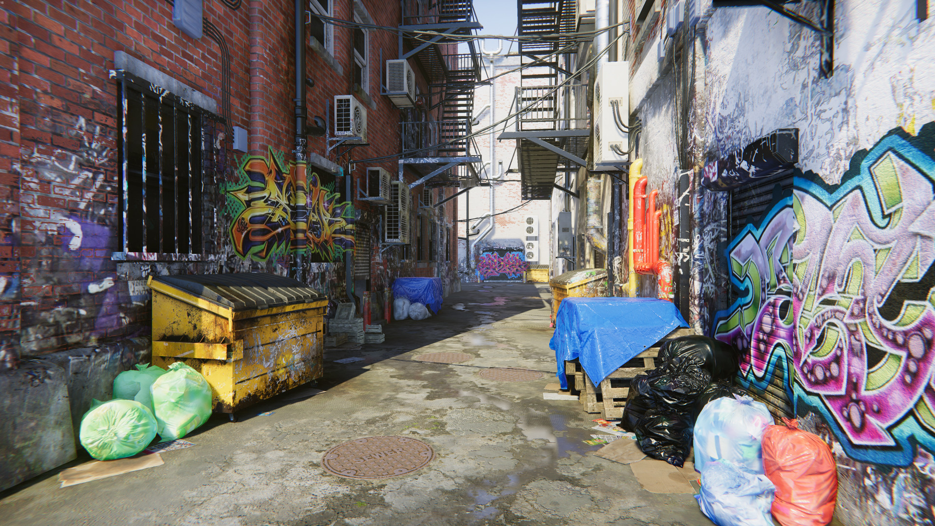Artstation Graffiti Alleyway David Buttress
