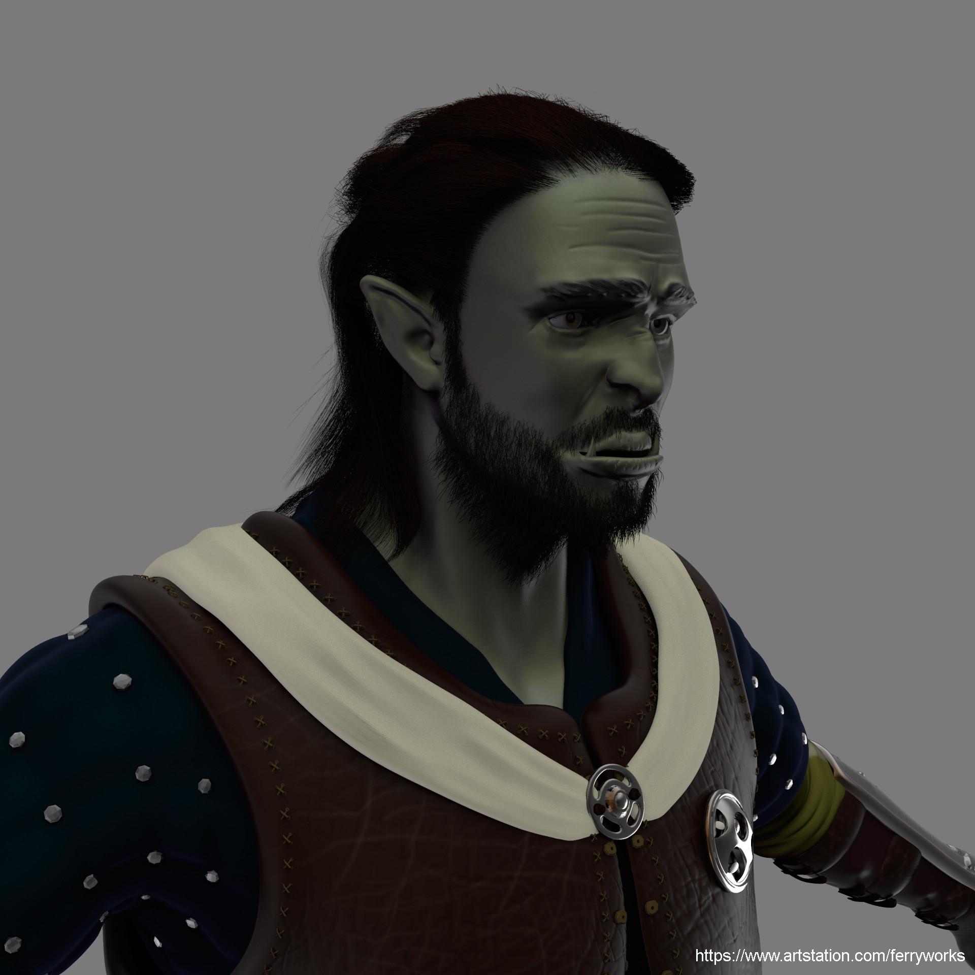 ArtStation - Half-Orc Cleric, Felipe Echeverry