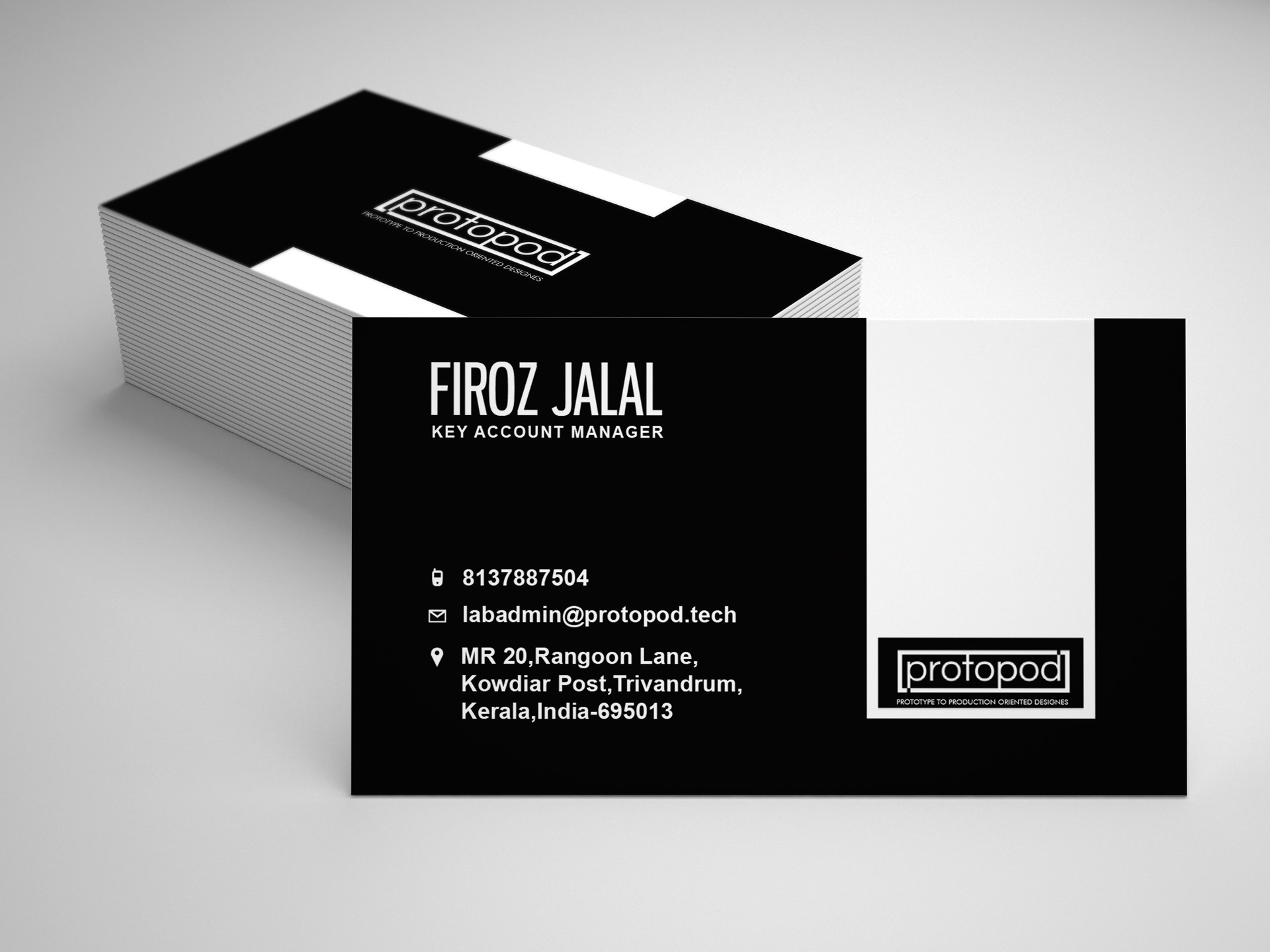 Punyar nair protopod company business card design back side protopod company business card design back side colourmoves