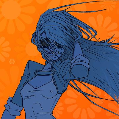 Anne quenton hippie girl blue