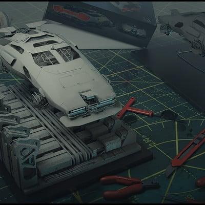 Brx wright or hovercar modelkitmockup