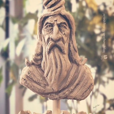 Surajit sen hindu saint rough sculpt by surajitsen ins