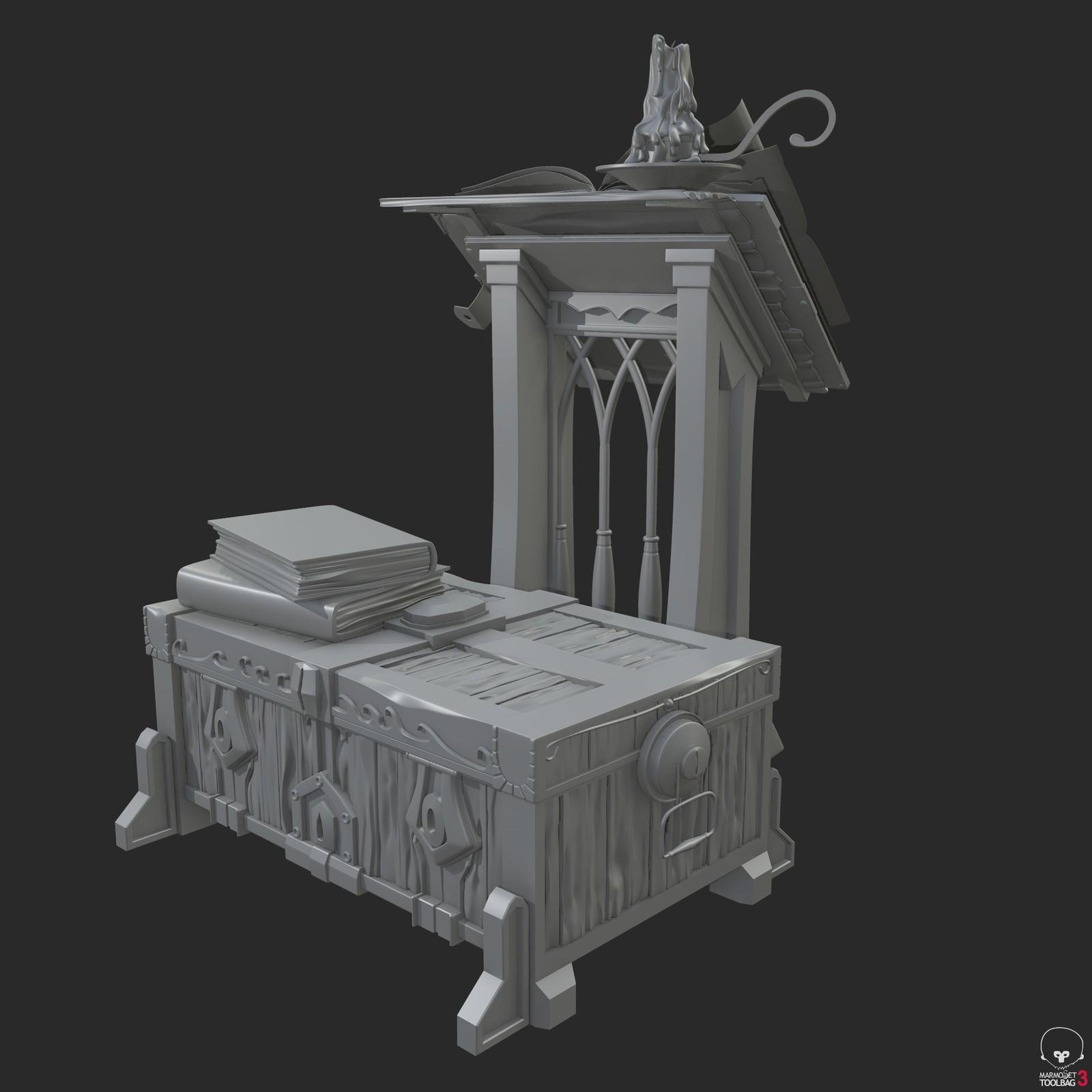Treasure Chest and Podium