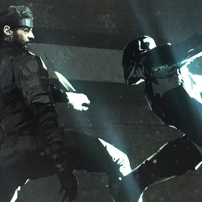 Alexander mandradjiev snake vs cyborg ninja sketch c v6