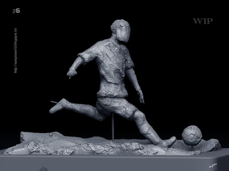 Surajit sen footballer speed sculpt by surajit sen wip