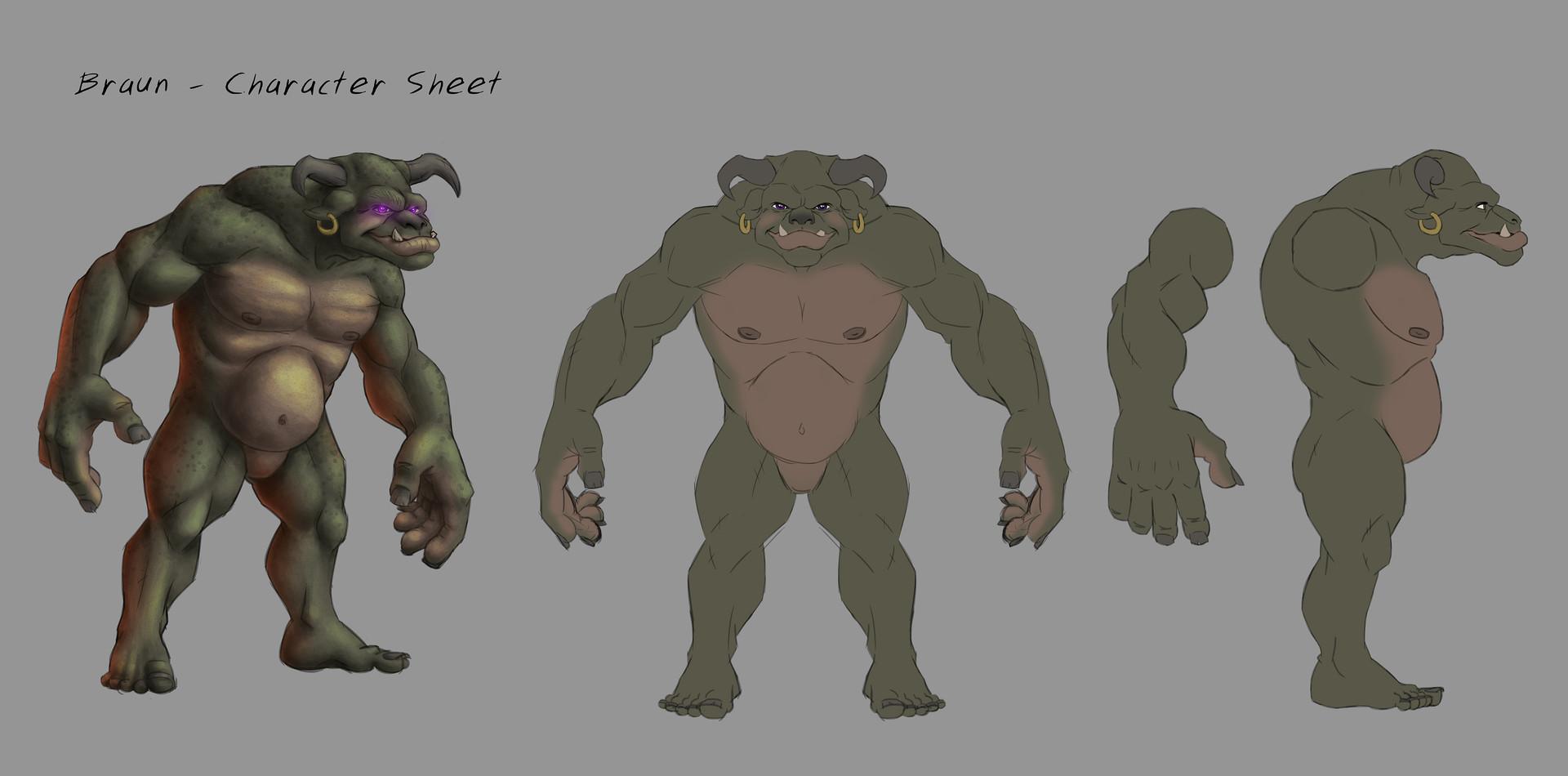 Bronn - Concept/CharacterSheet