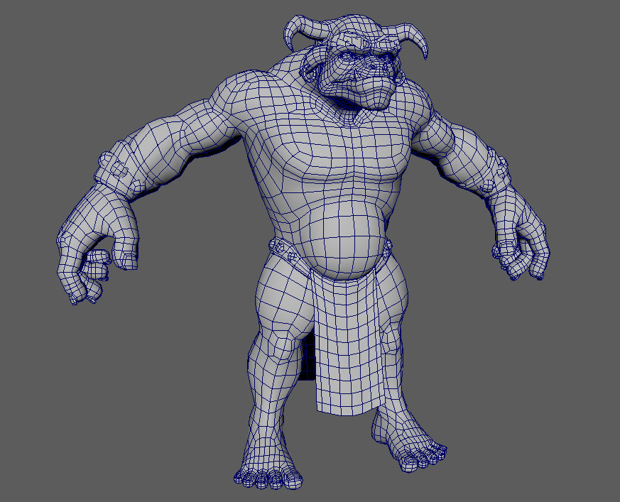 Bronn - Low res Wireframe (14,494 triangles)