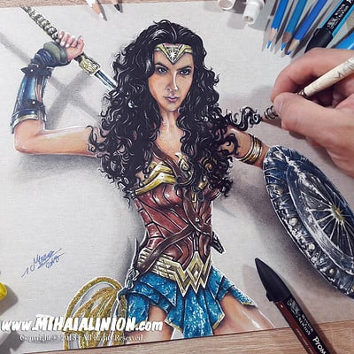 Mihai alin ion drawing wonder woman mihai alin ion post