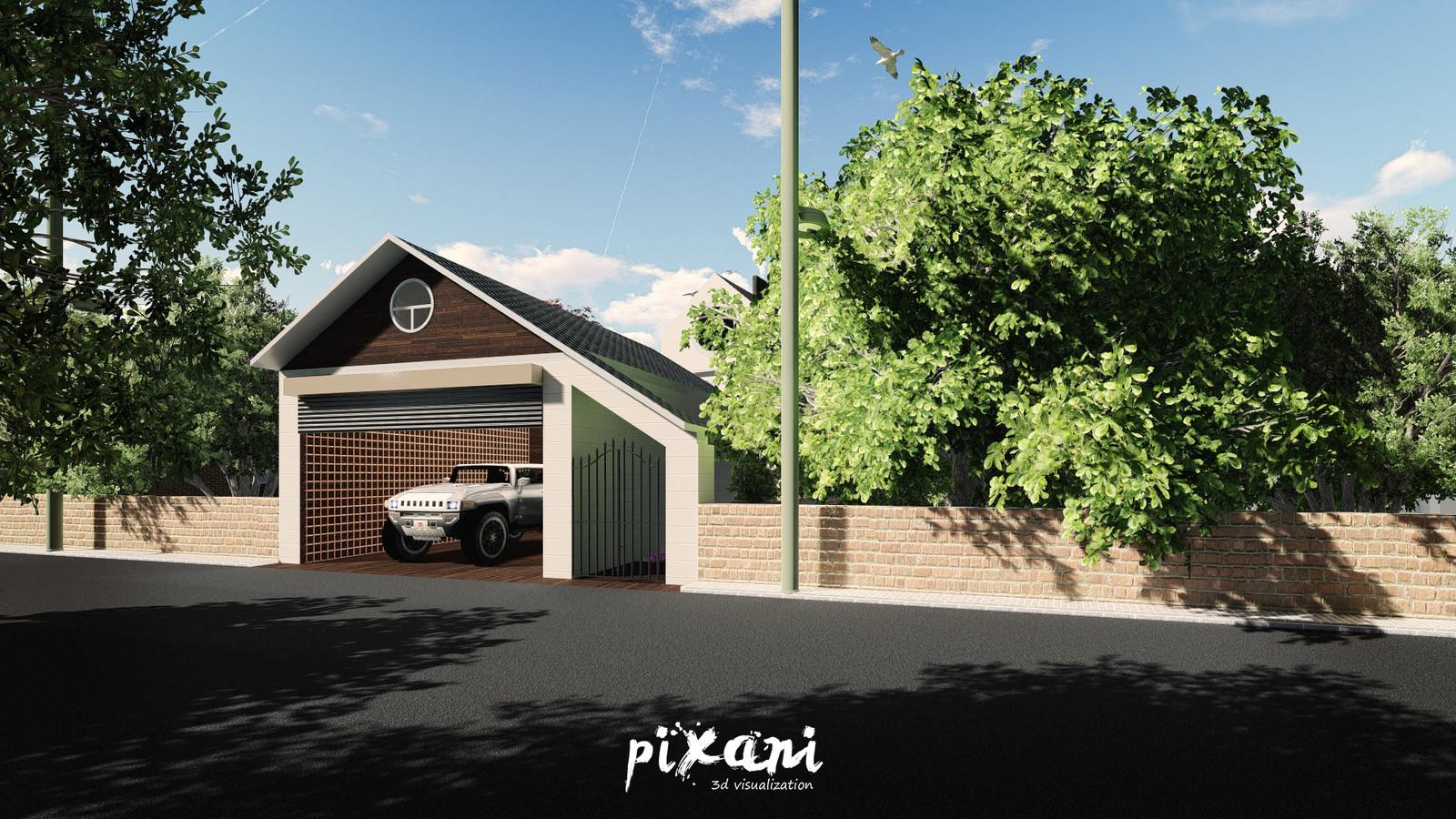 Venend Home Garage and garden entrance street view