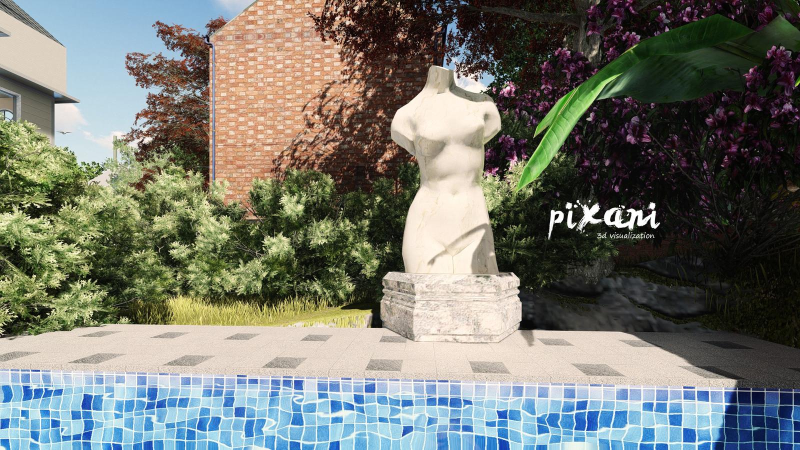 Greek Statue at garden  VENEND HOME