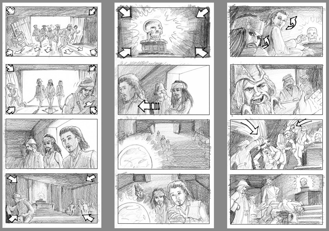Pirates Of The Caribbean Game Cinematic Boards
