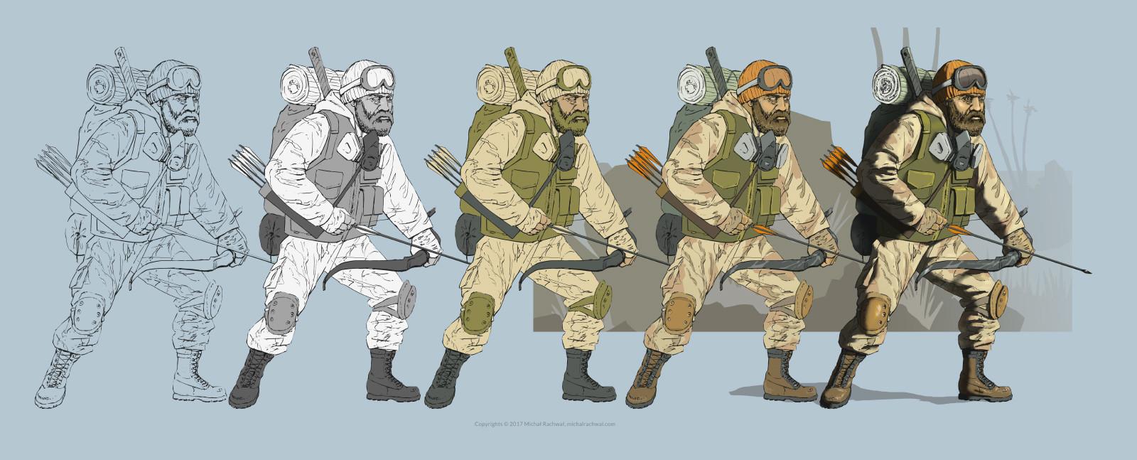 Michal rachwal michal rachwal hunter values and palette pose3wip