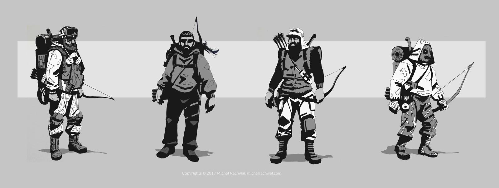 Michal rachwal michal rachwal hunter sketches2