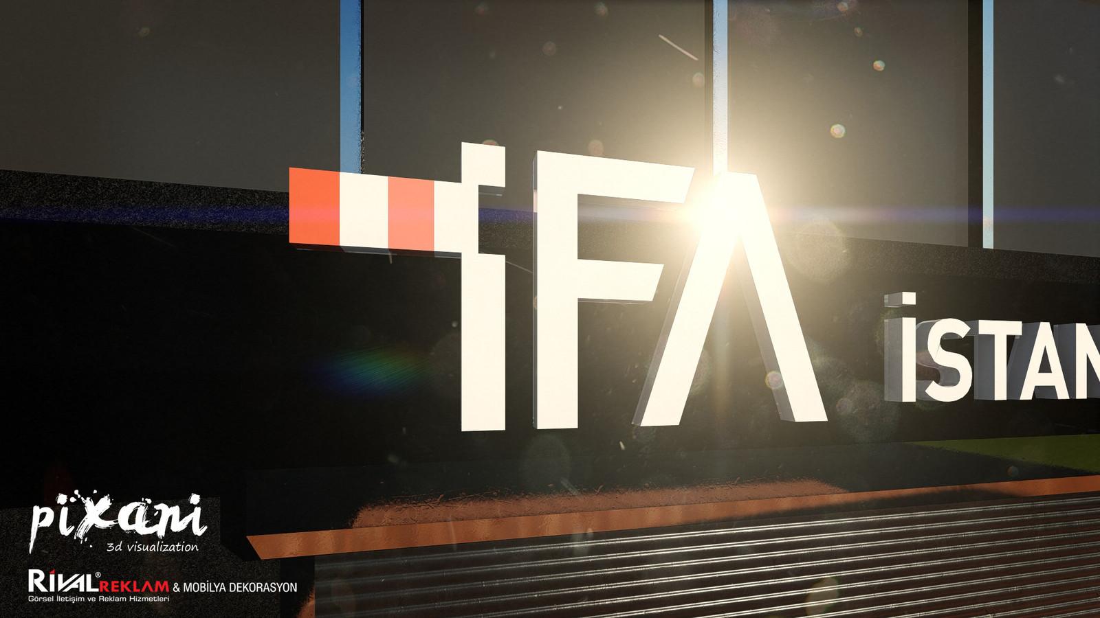 IFA signboard visualization  9 meters long