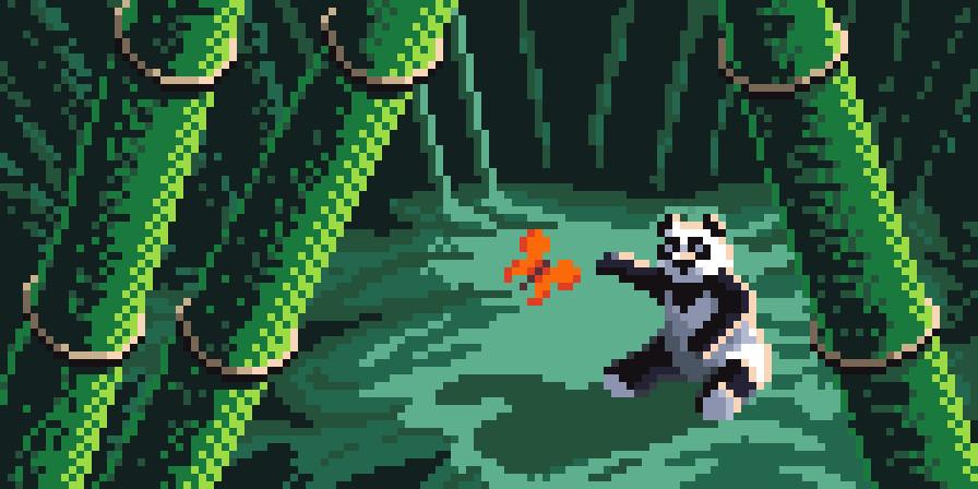 Jonathan Dodd Bamboo Panda Pixel Art