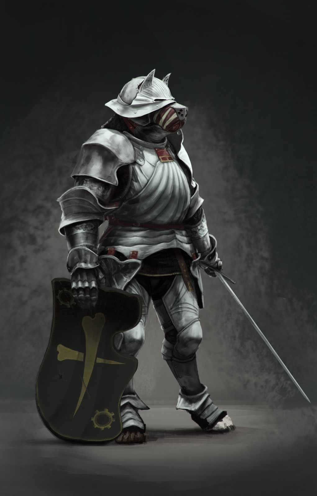 Costume Design: Alvise of the Temple Guard full-plate armor, second version
