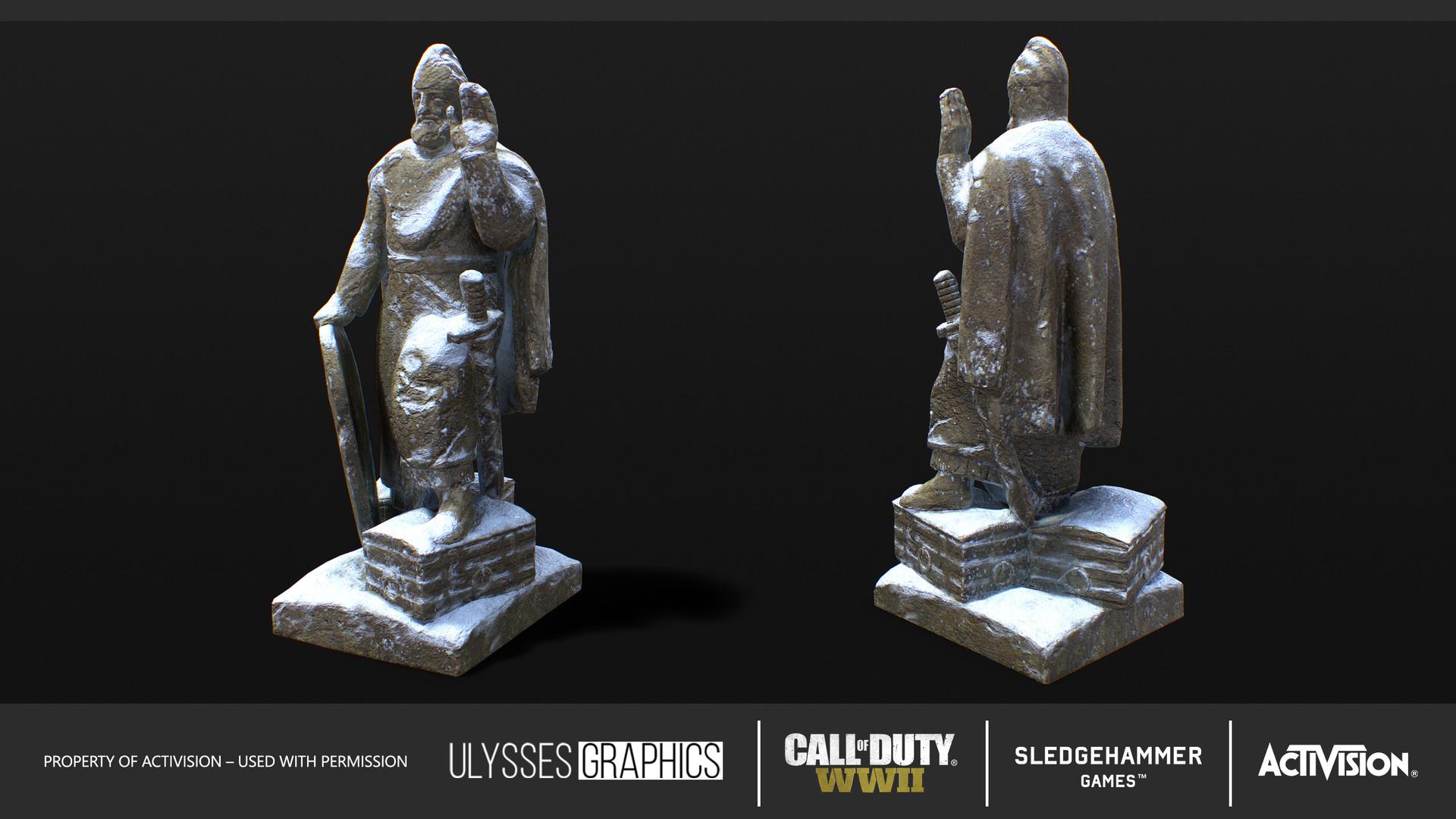 Andrew zelfit mykhailov knight statue 01