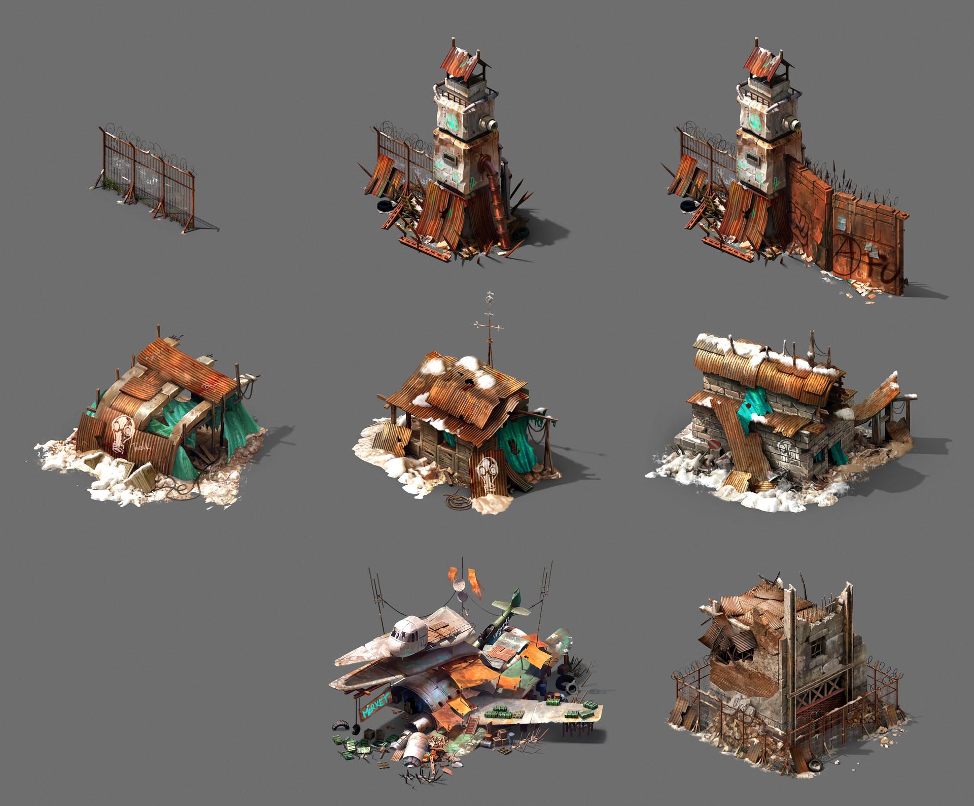 Tokkun studio fence tower rerender collection