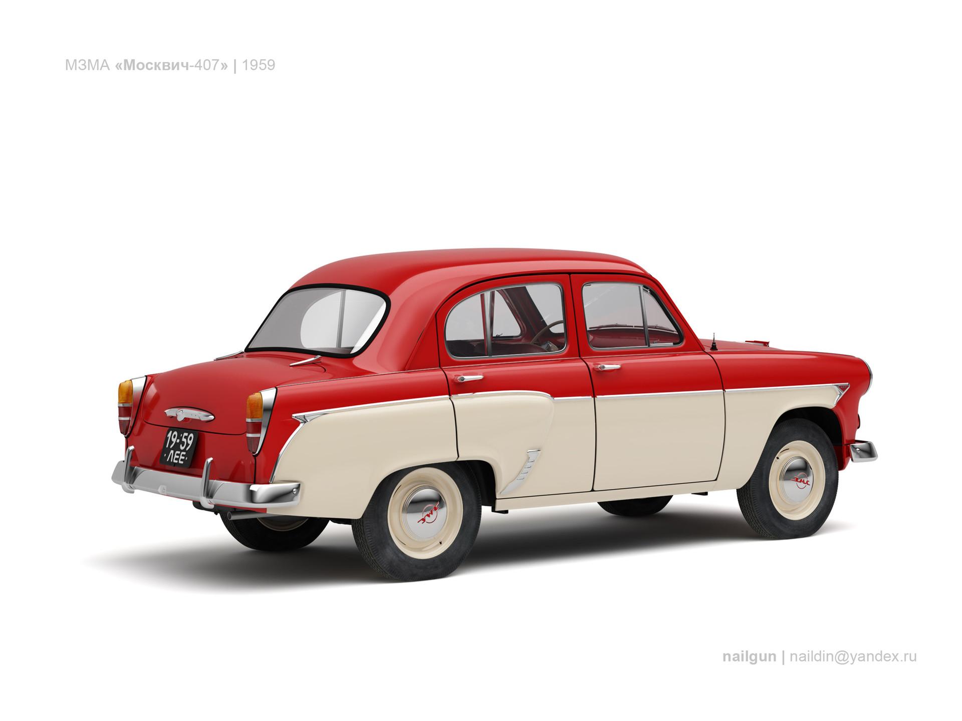 Nail khusnutdinov ussr moskvich 407 1959 1