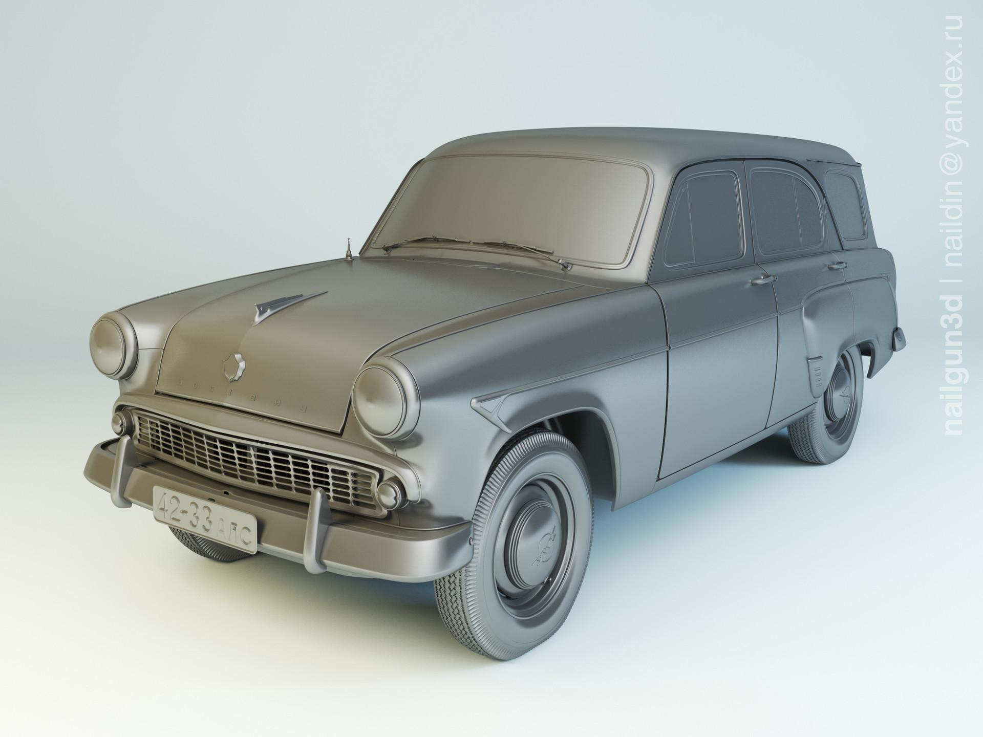 Nail khusnutdinov als 204 000 moskvich 423 1960 modelling 0