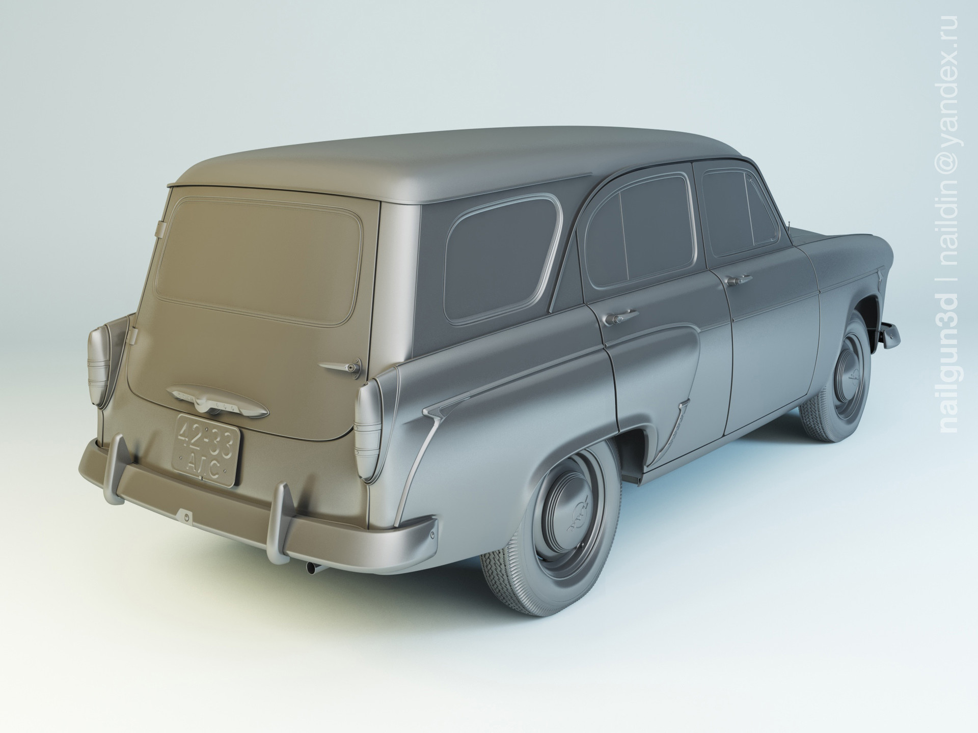 Nail khusnutdinov als 204 000 moskvich 423 1960 modelling 1