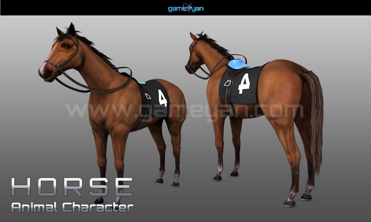 ArtStation - 3D Horse Animal Character Modelling With