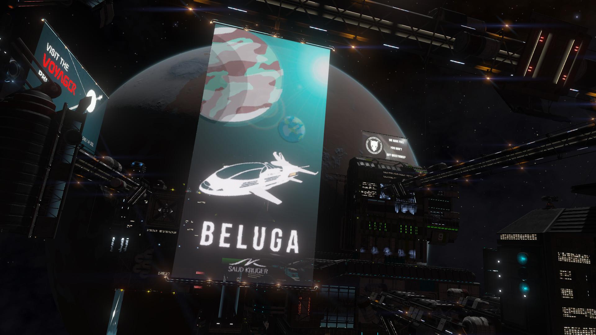 Beluga, in game.