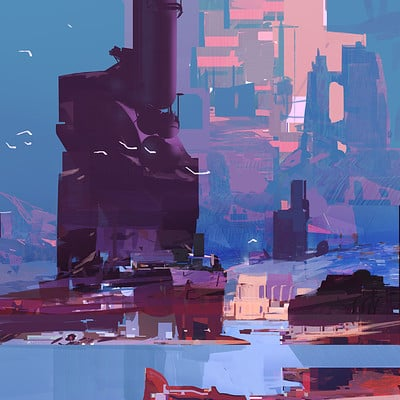 Sparth industry refinery flat small