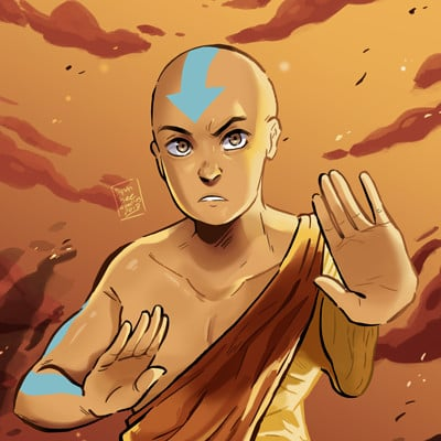 Dylan b caleho avatar aang finished