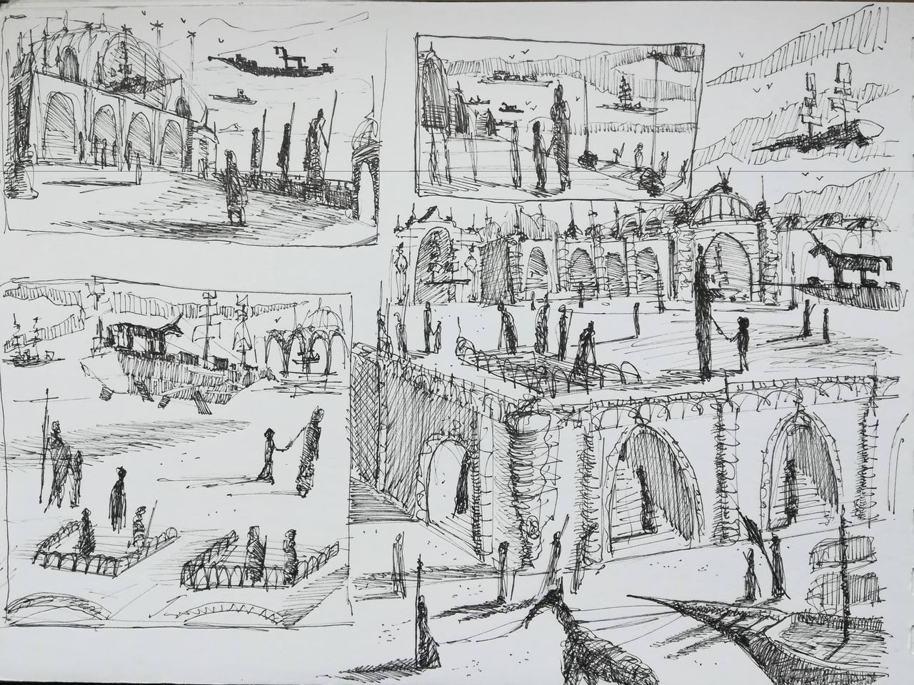 Thumbnail scribbles