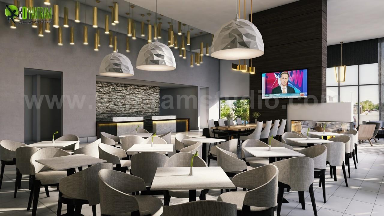 ArtStation - Best Cafe, Bar & Restaurant Interior Designs by Yantram ...
