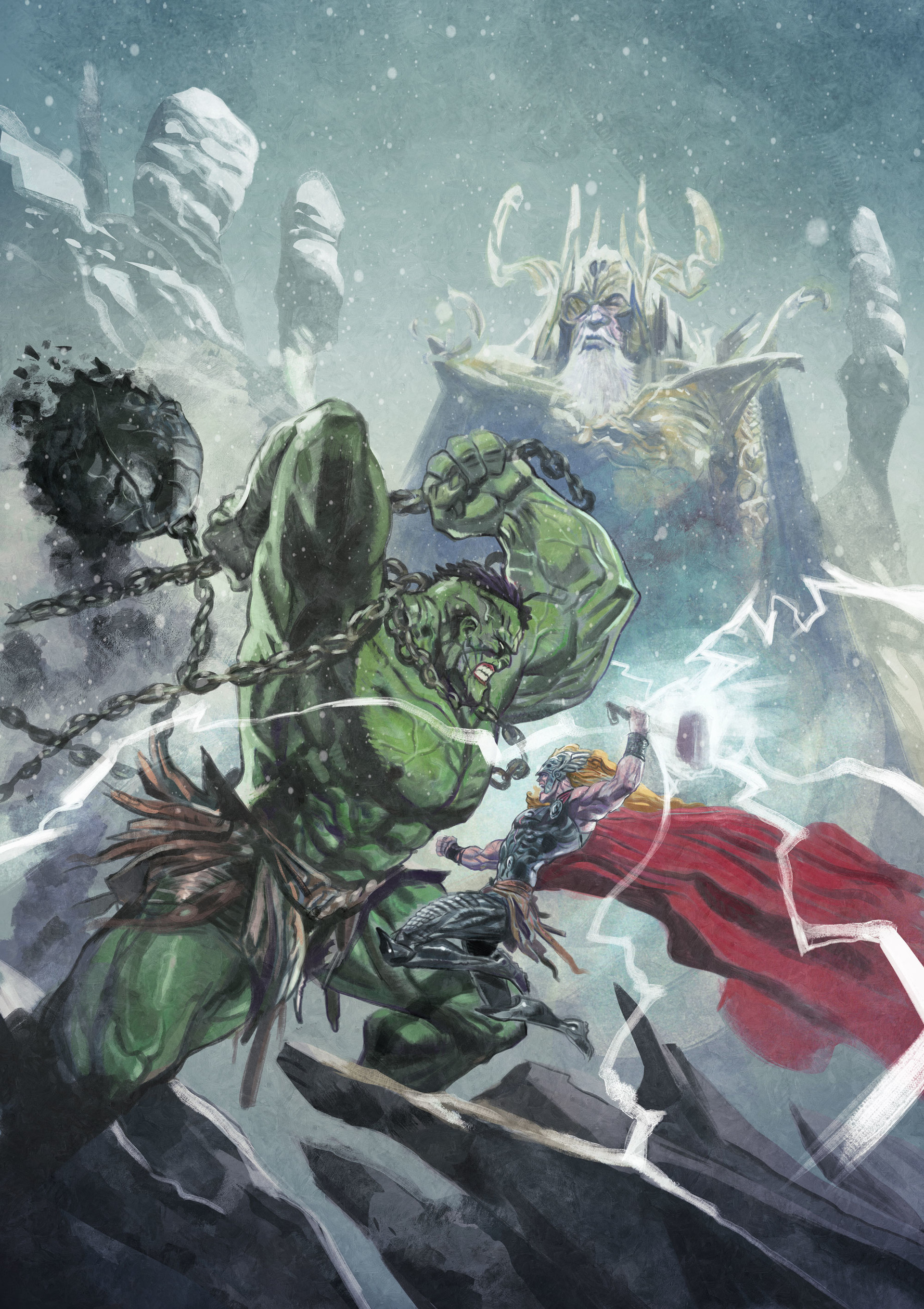Fighting in Asgard (aka Thor vs Hulk)⠀