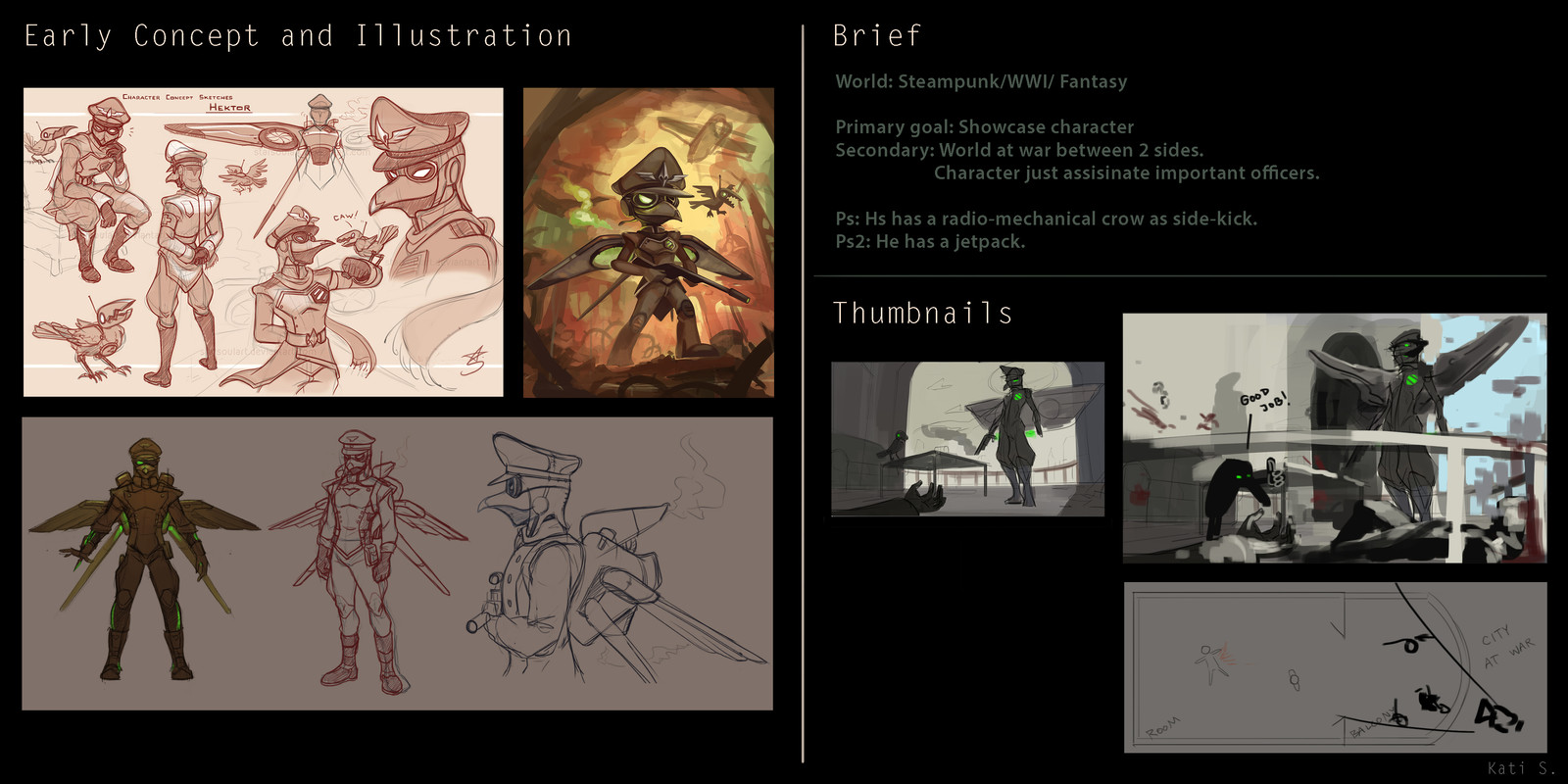 Planning, Brief, Old sketches