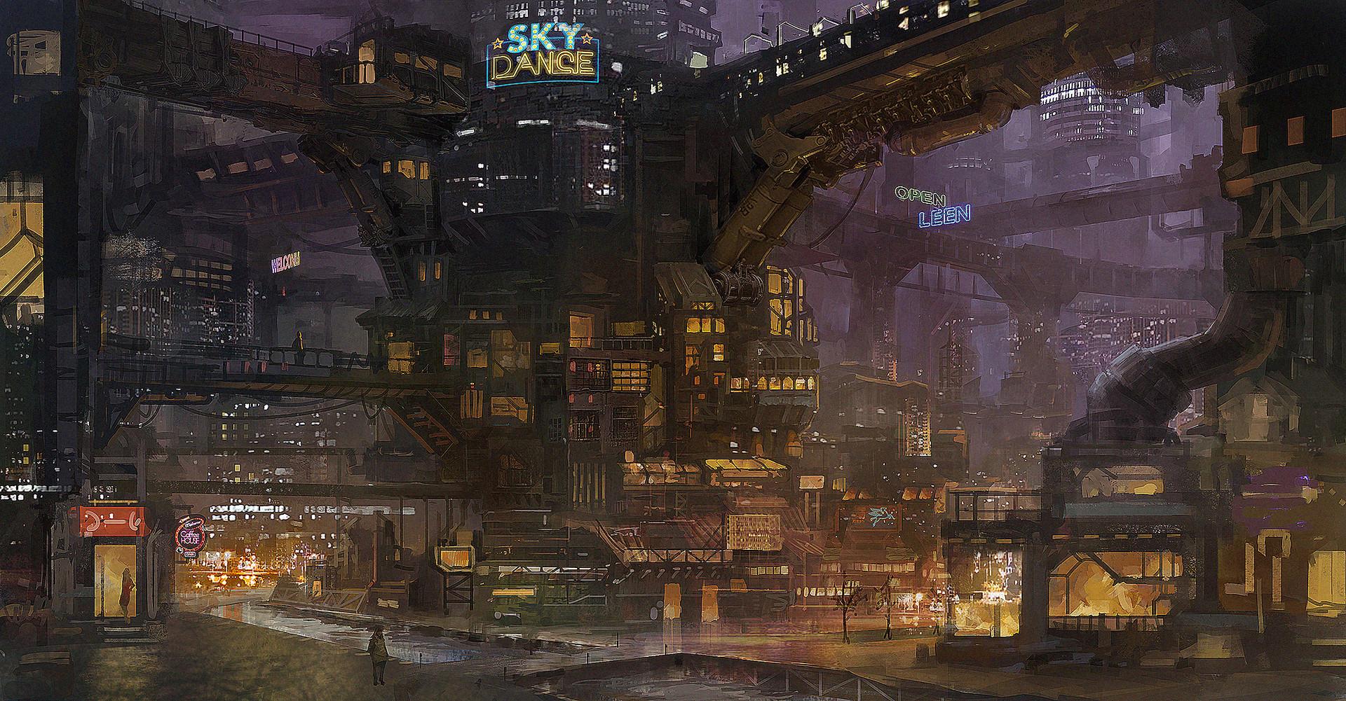 Concept Art Cyberpunk Cities