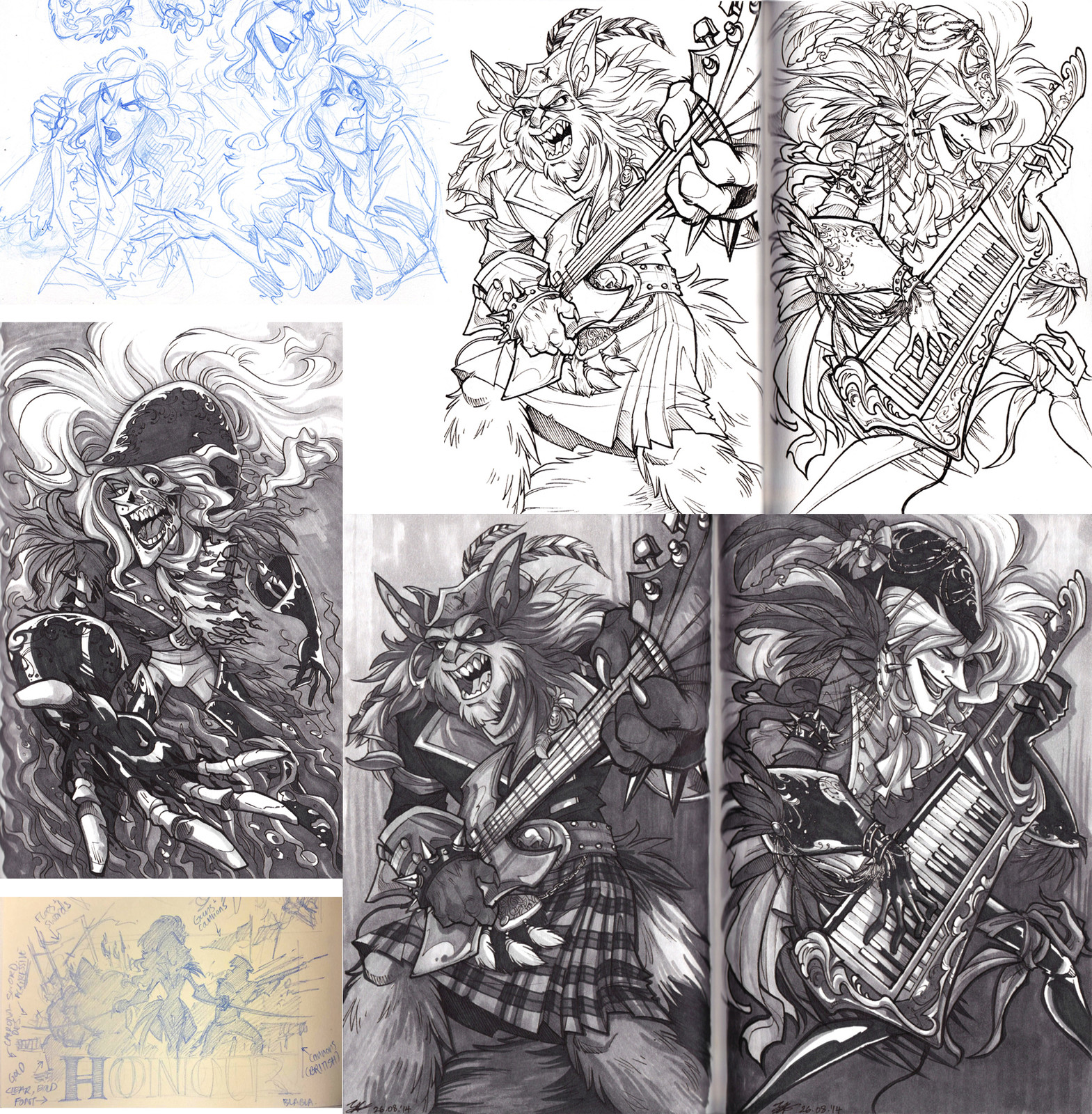 Sketchdump #2: Collection of explorations from sketchbook - (2015)