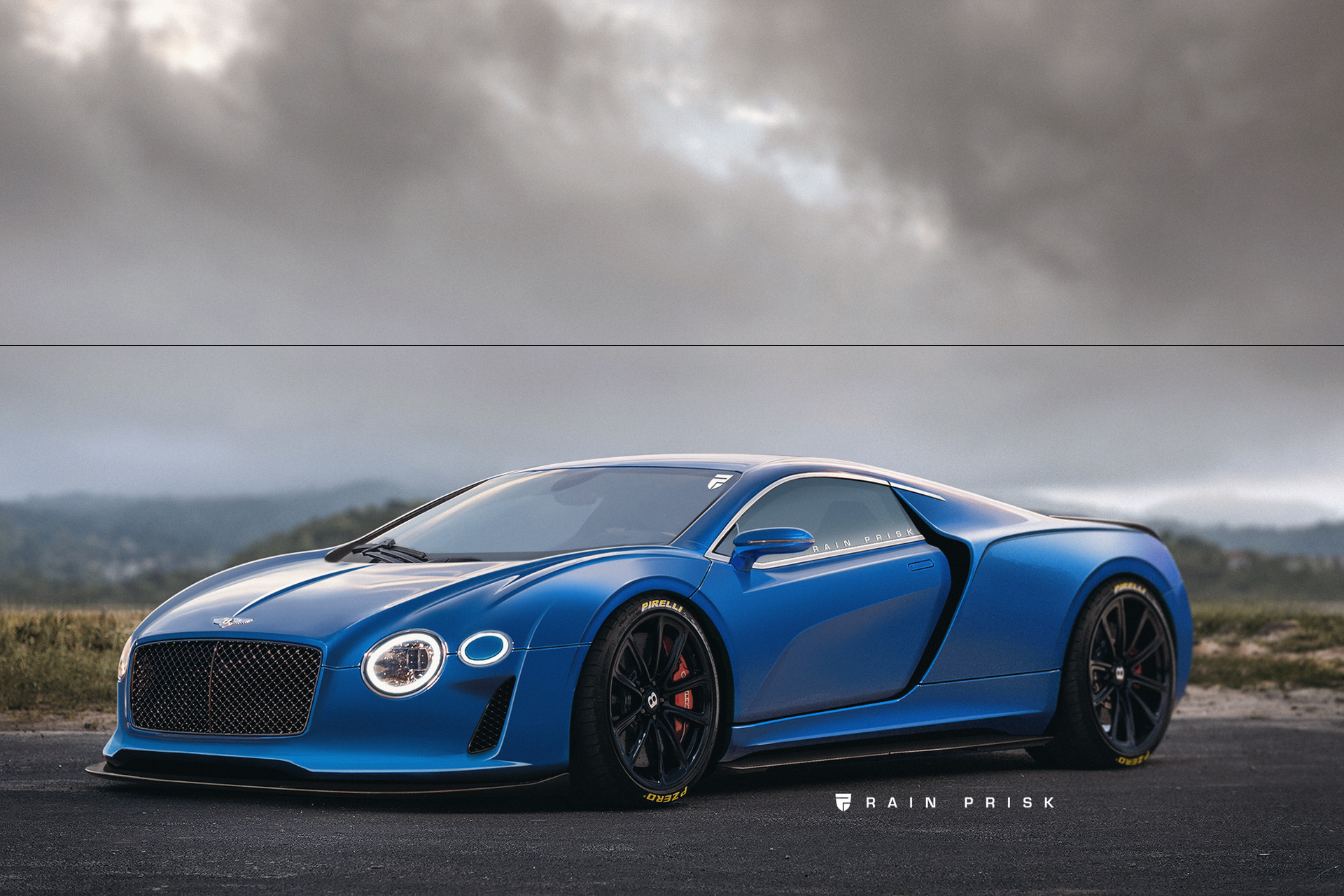 Rain prisk bentley supercar