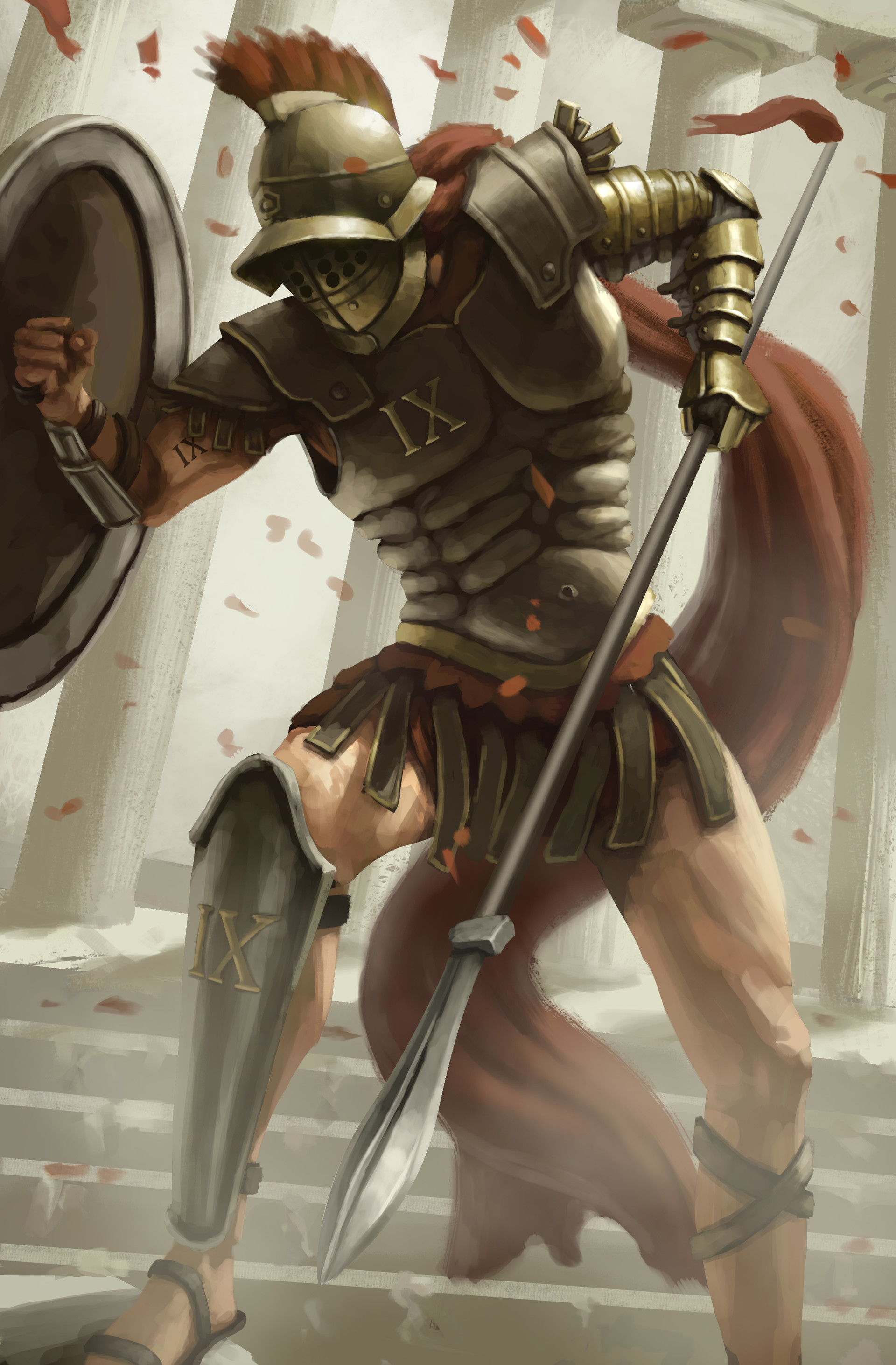 Morgan ketelaar jarass roman spear and shield highres