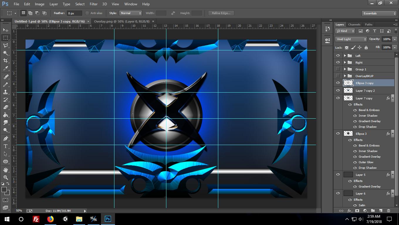 Myke Wills - Cybrex Dominator UX - UnleashX UI Skin for Xbox