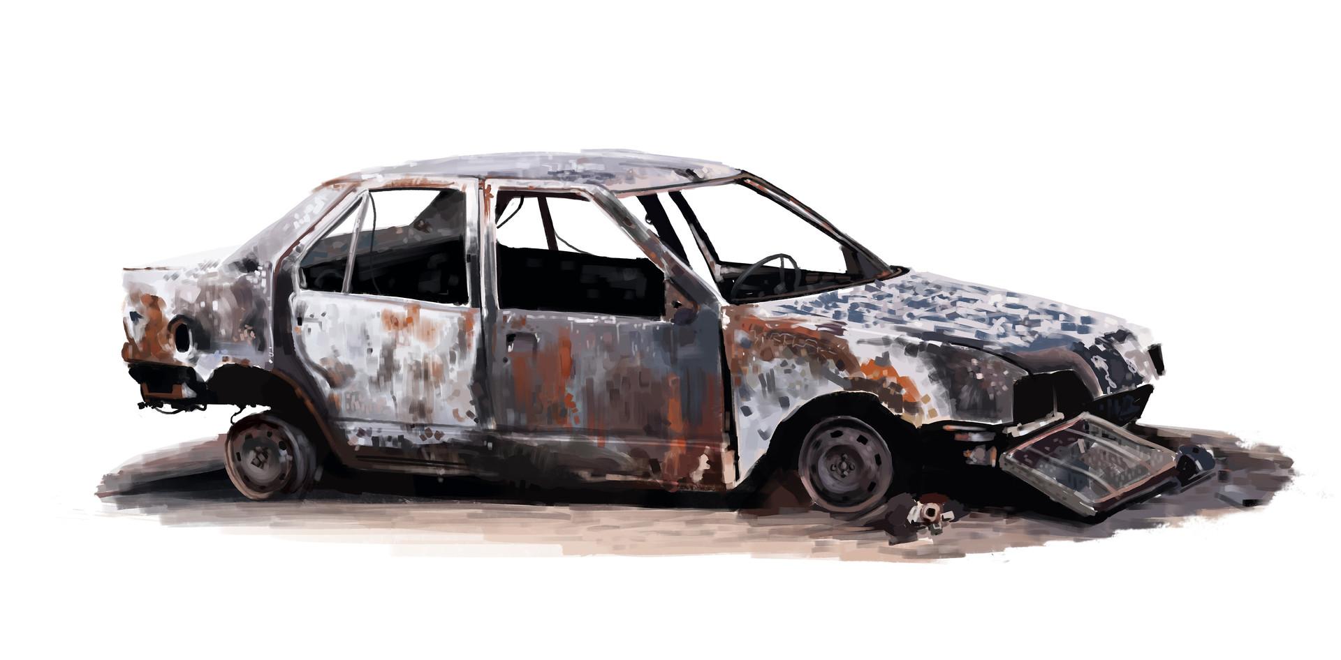 Niklas Simon - wrecked car studies