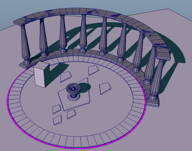 Example of environment pieces I designed and models. They were setup so they can be torn apart for gameplay use.