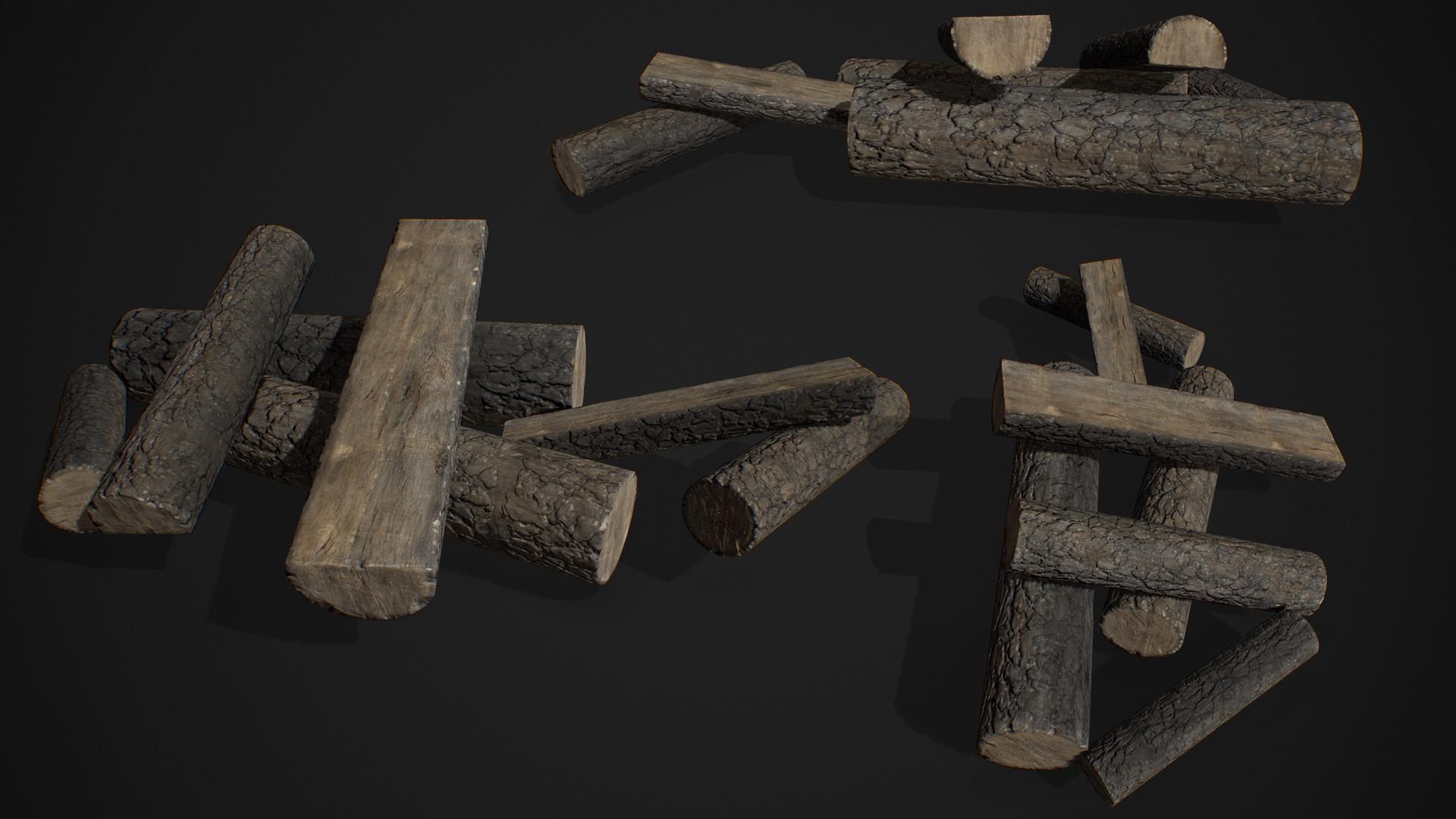 Fire Log Pile