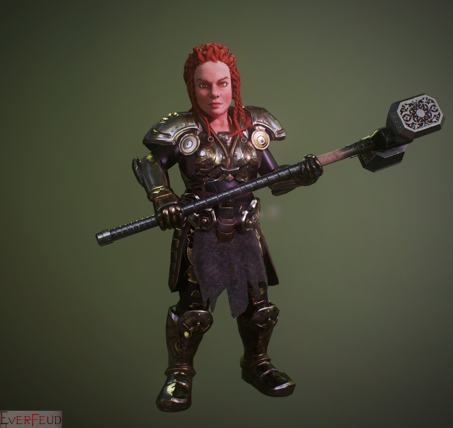 Silvano junior dwarf female render