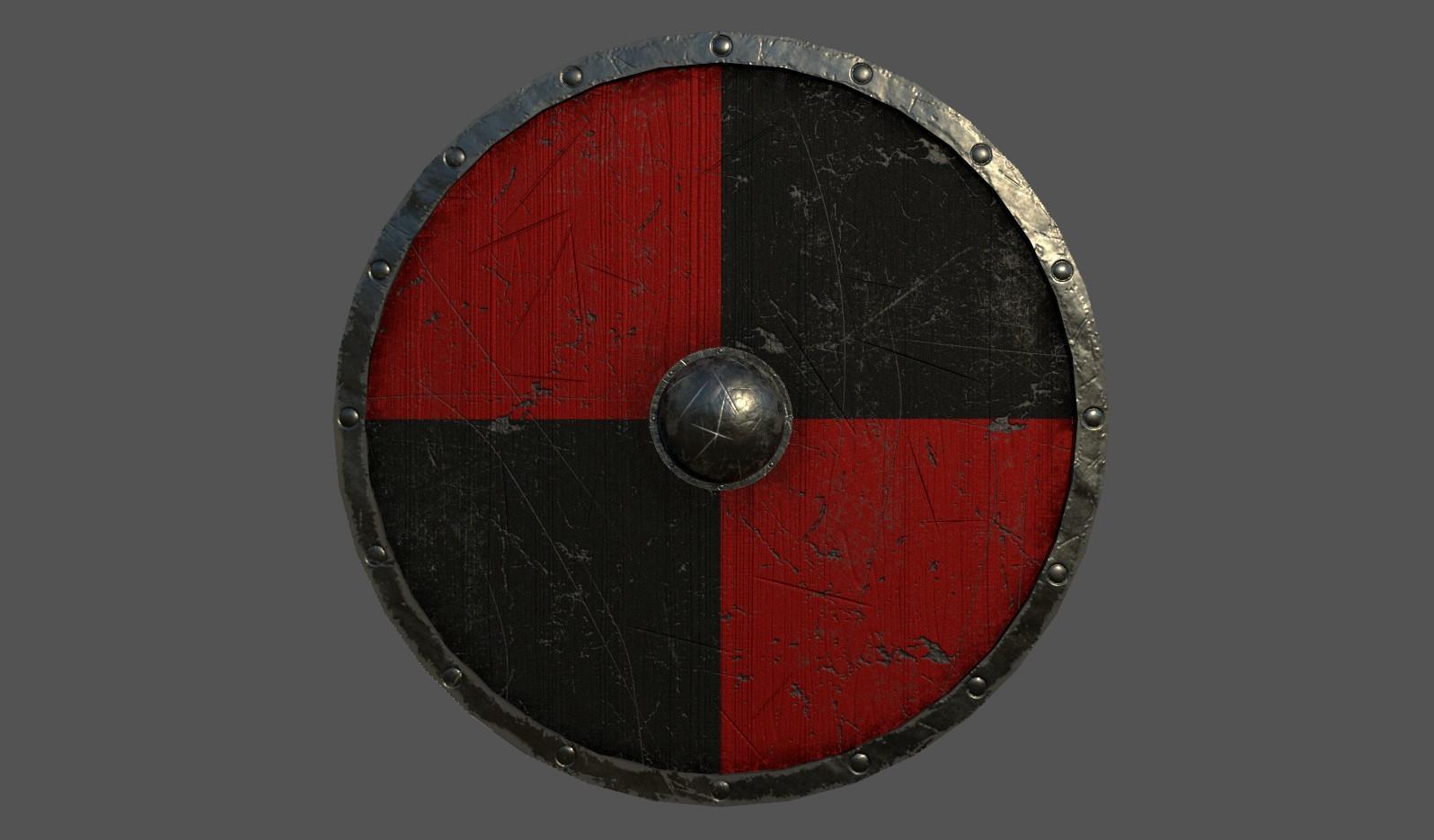 Mike Nykiel Viking Shield Low Poly