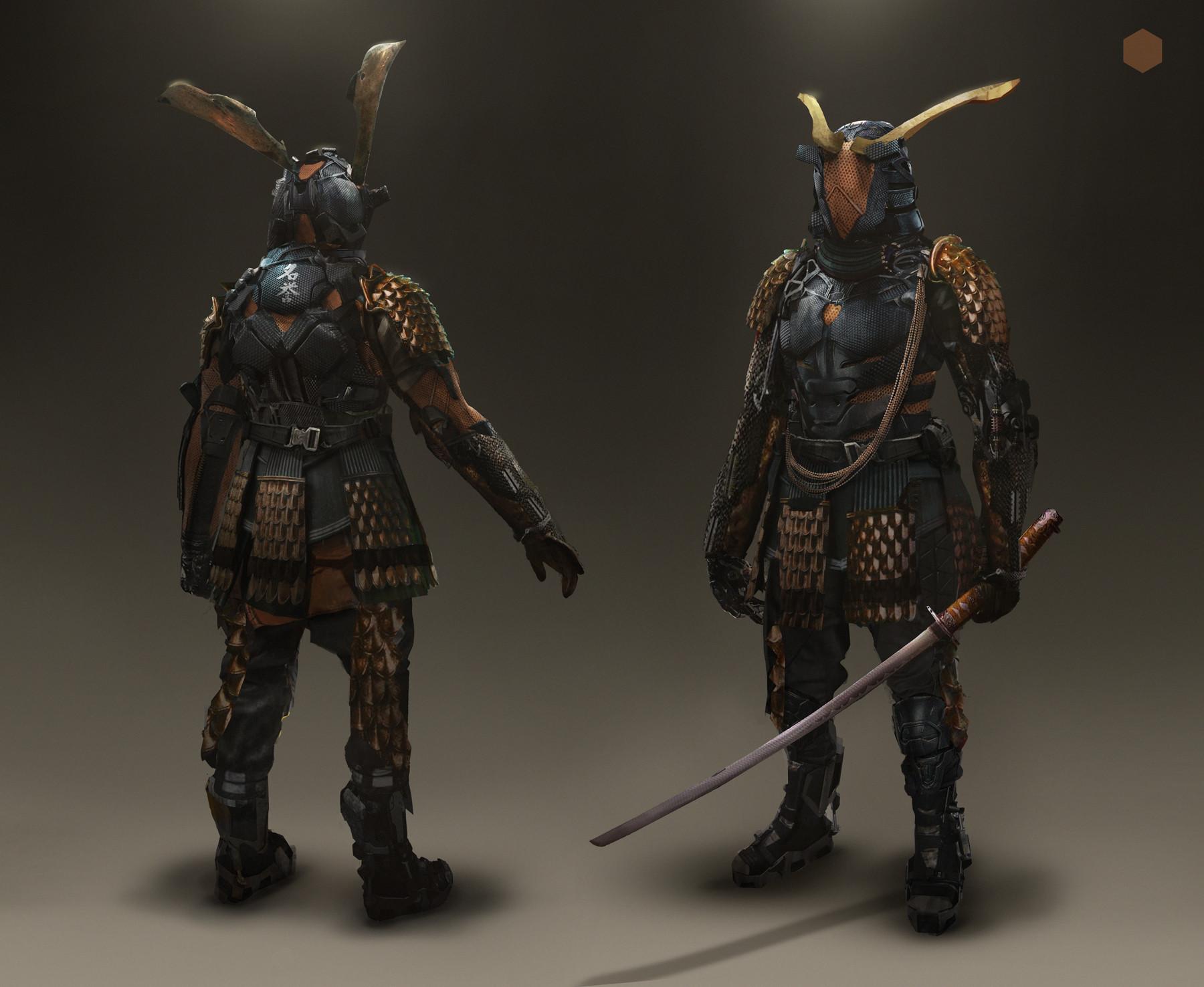artstation cyberpunk samurai eddie mendoza