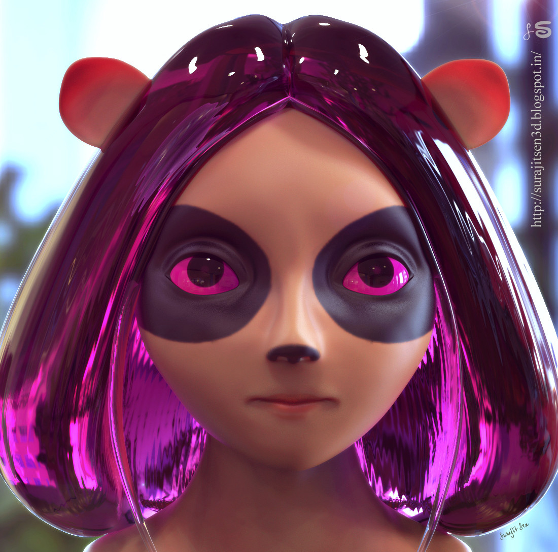 """One of my old CG characters......I named her """"Cat Girl"""" Recently I did some  modeling and map works on it. Wish to share."""