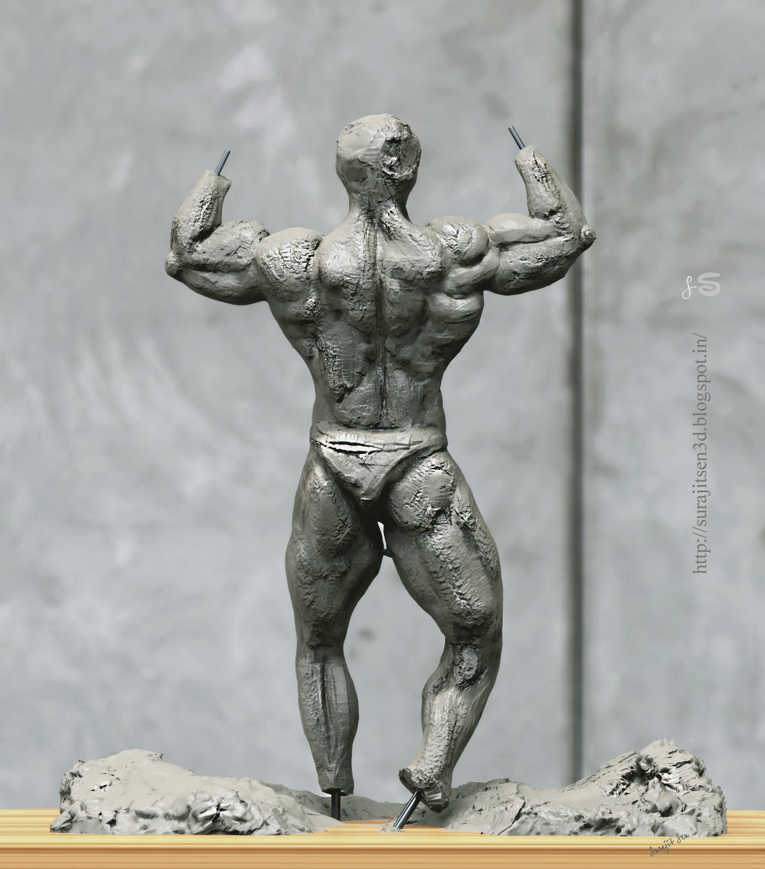 #quicksculpt #doodle #study   One of my quick blocking of IFBB Body . Tried to make a form of bodybuilder.